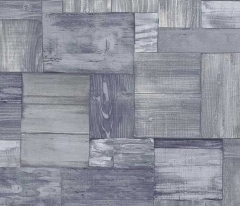 フリース壁紙 木目ブロック 青【5819-08】