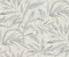 フリース壁紙 植物柄 グレーD【5984-37】