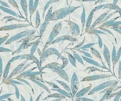 フリース壁紙 植物柄 ブルー【5984-08】