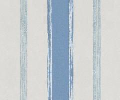 フリース壁紙 ストライプ 青A【5963-08】