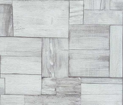 フリース壁紙 木目ブロック 白【5819-01】